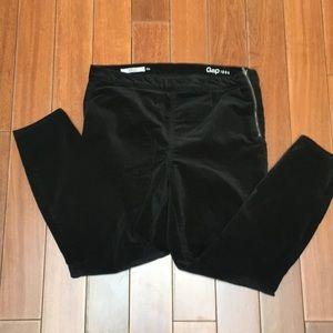 GAP 1969 velvet side zip jean leggings black